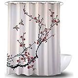 Adwaita Waterproof Fabric Shower Curtain with Weights at Bottom Waterproof Fabric Shower Curtain with Weights at Bottom - 72
