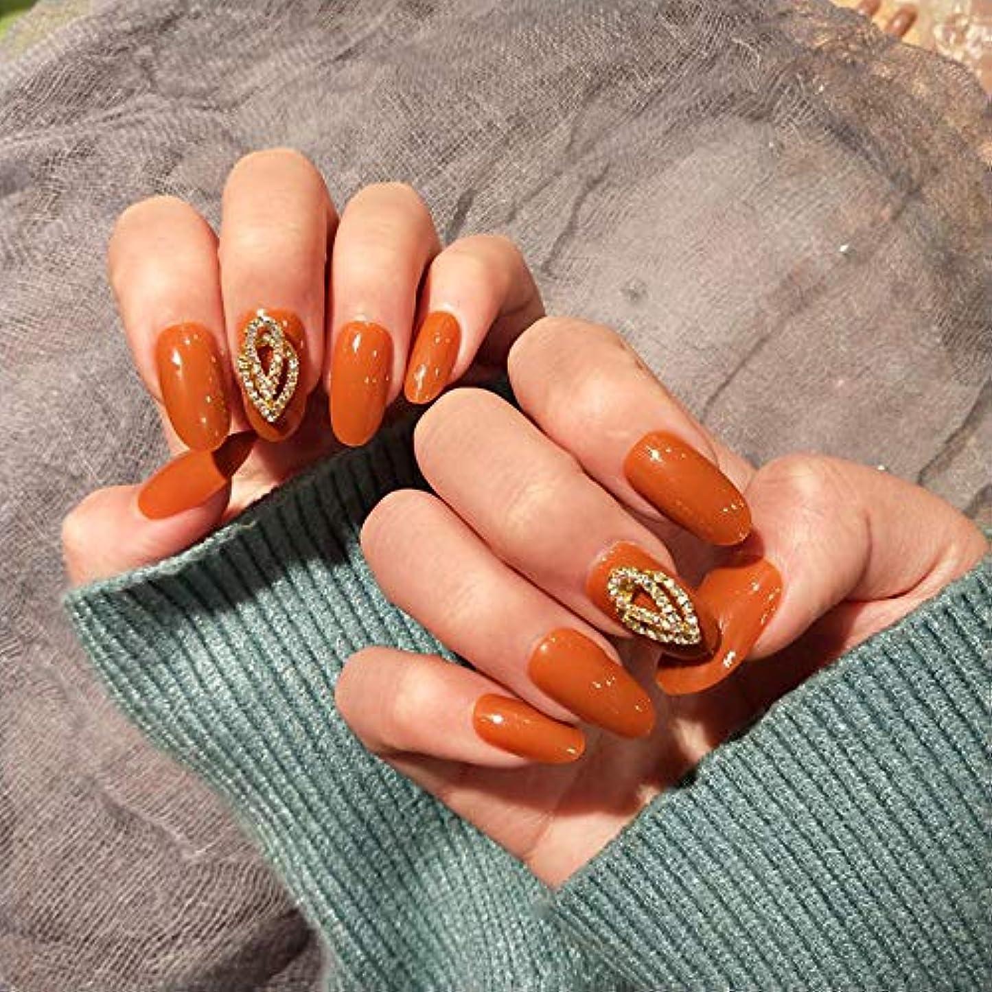 シェルター批判ギネスXUTXZKA カボチャの長いフラッシュドリル偽の爪パッチ風の偽の爪がネイルパッチを身に着けて終えた