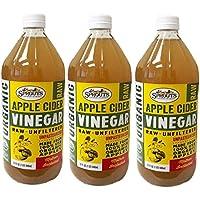 SPROUTS, オーガニック アップル サイダー(Apple Cider Vinegar) 946 ml (3個) [並行輸入品]