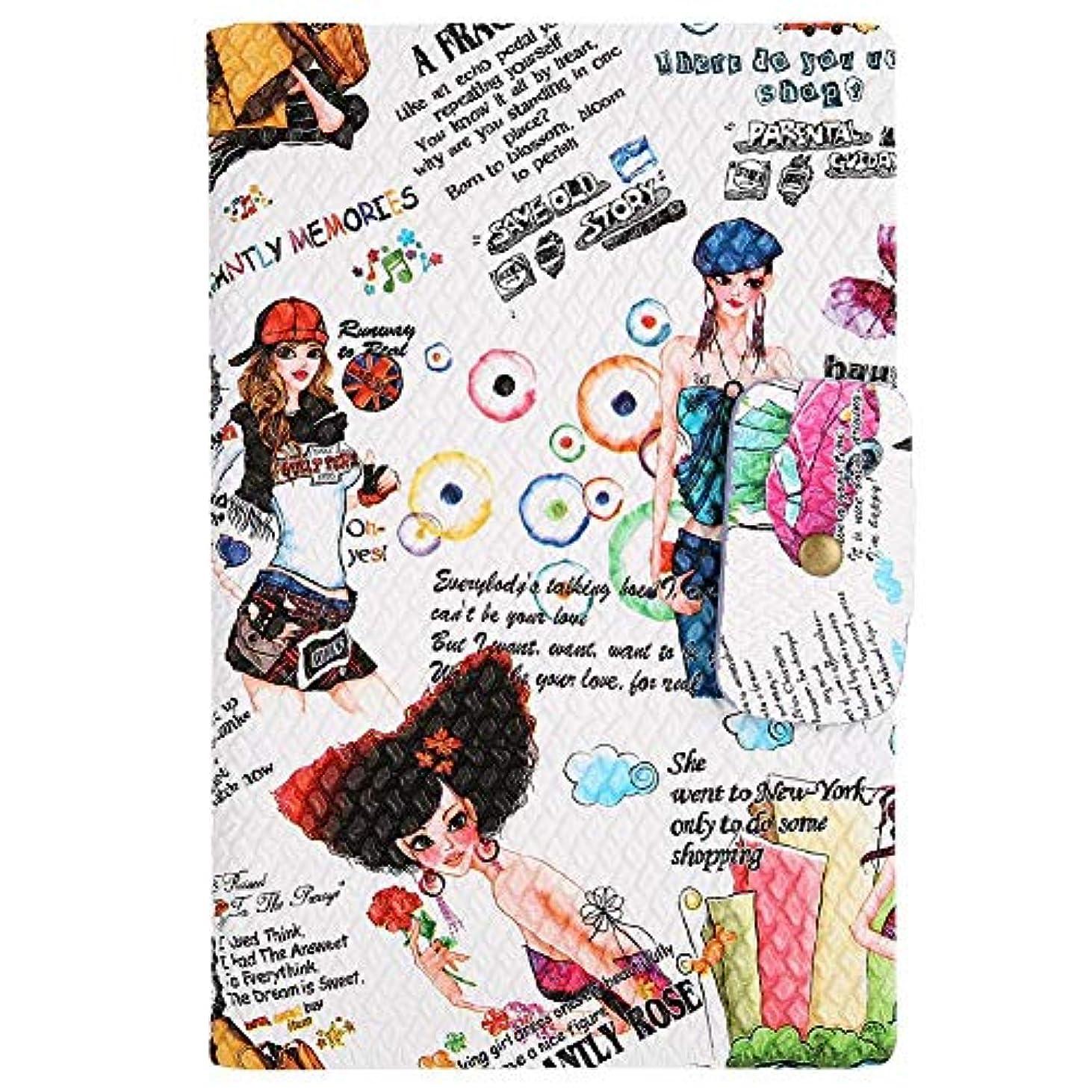 衣類拡散する聖歌ネイルアートディスプレイカードブックマニキュアジェルカードネイルプラクティスマニキュアツール(01)