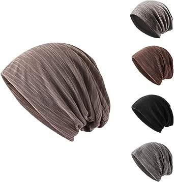 CRINEX ニット帽 メンズ 伸縮性全綿糸布 男女 医療用帽子 春夏 一体の柔らかい ニット帽 メンズ レディース 男性の山の帽子は多色です防風全綿快適な帽子弾力性が優れています