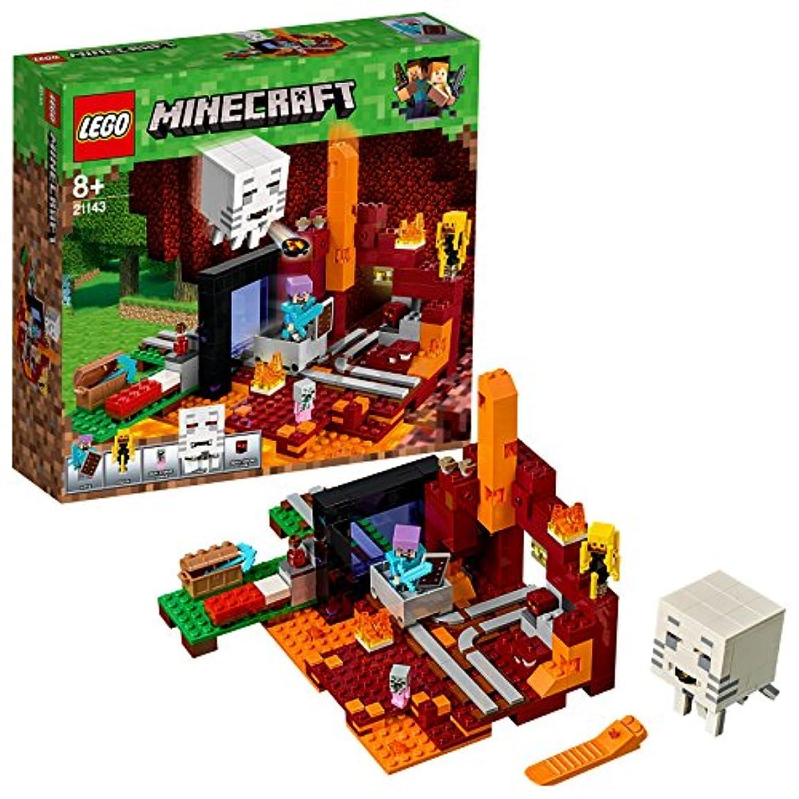 逃げる緩やかな呼び起こすレゴ(LEGO) マインクラフト 闇のポータル 21143