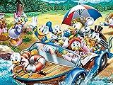 ジグソーパズル ディズニー ドナルド・ファミリー・パーティ 150ピース 【プチパリエクリア】 (7.6x10.2cm)