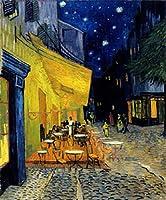 ゴッホ・「夜のカフェテラス」・プリキャンバス複製画・【立体仕上げ】(12号サイズ)