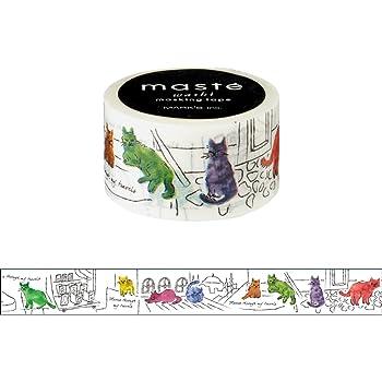 マークス マスキングテープ・マルチ/マステ/トラベル/イスタンブルのネコ MST-MKT150-G