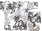 【唐獅子牡丹・白】 義若オリジナル子供鯉口シャツ上下セット(1号(90サイズ))