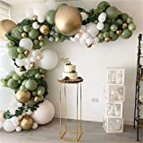 146Pcs Avocado Green Balloons Garland Arch Kit Retro Green Chorme Gold Latex Globos Birthday Valentine Wedding Party Decors 2