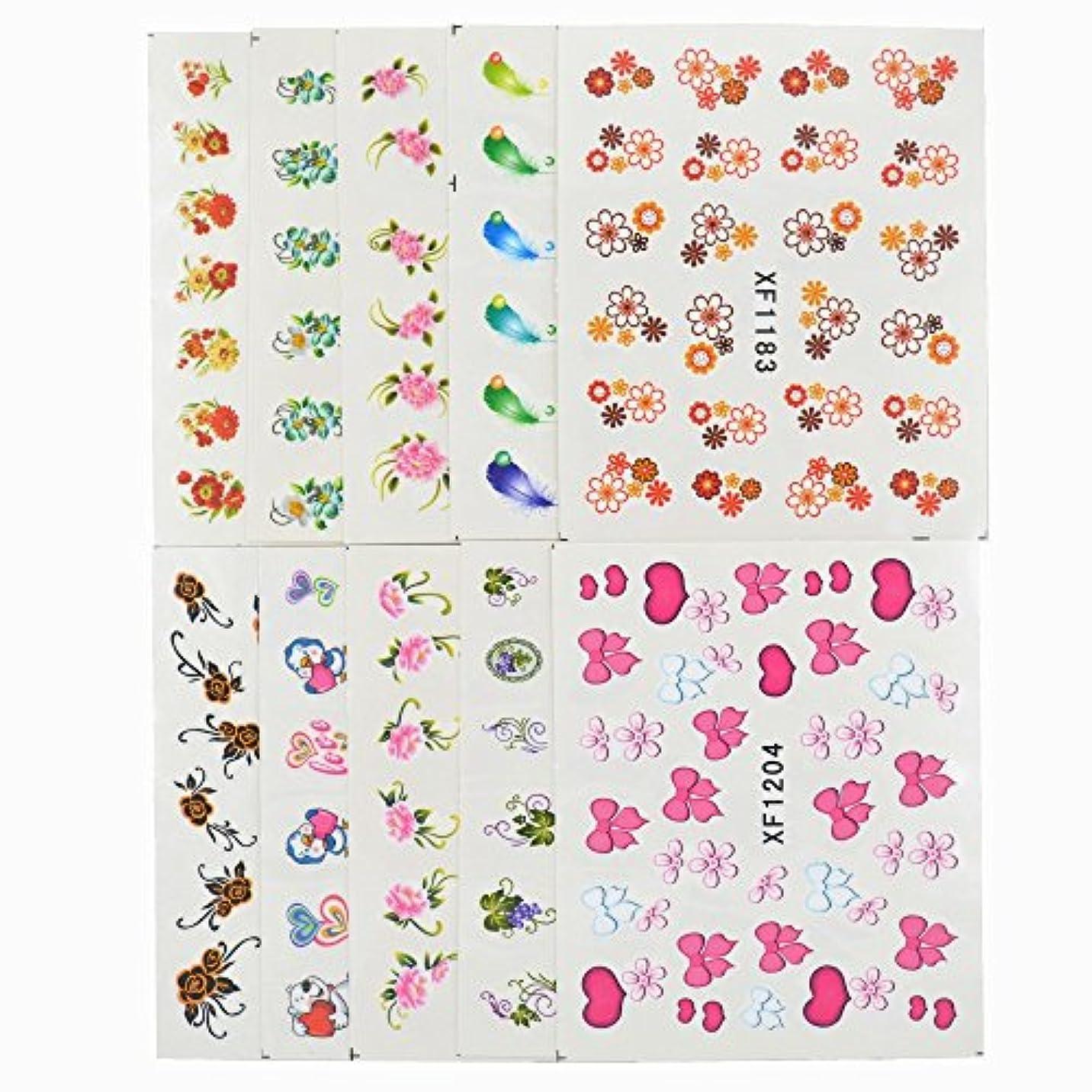 顧問ジョグフォームSUKTI&XIAO ネイルステッカー 60枚混合スタイルDiyデカールマニキュア用ネイルアート水転写印刷ステッカー