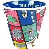 ティーズファクトリー Wプリント メラミンカップ ファニーアート トム&ジェリー ブロック 250ml 8.8×8.8×9.1cm