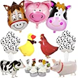Farm Animal Party Decorations Farm Walking Balloons Cupcake Toppers for Boy or Girls Barnyard Birthday Party Supplies
