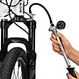 GIYO High Pressure Shock Pump, (300 PSI Max) for Fork & Rear Suspension, Lever Lock on Nozzle No Air Loss