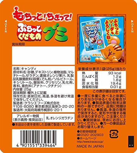 ぷちっとくだものグミ(オレンジ味) 10個入 食玩・知育菓子
