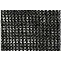 ランチョンマット : 福井クラフト 敷マット ブラック格子(長手/ストロング・3-135-2 尺4.5) 435x305mm