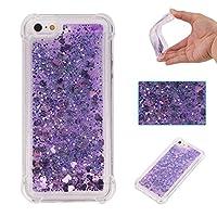iPhone SE 5S 5 ケース BRAVODAY [流れる愛] 輝く きれい 可愛い iPhone SE 5S 5 シリコン ケース スターライト 愛 [エアバンパー] [衝撃吸収] iPhone SE 5S 5 シリコン ケース [全面保護] 落下時の衝撃から本体を守る 手触りがよい 衝撃吸収構造を兼ね備えたケース (紫)
