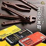 【バレンタイン】工具のチョコレートセット ミニ缶入り [おもしろチョコレート] (02 モンキー&スパナ)