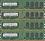 SAMSUNG PC2-6400U (DDR2-800) 2GB x 4枚組み 合計8GB 240pin DIMM 8G Kit デスクトップパソコン用メモリ【中古】