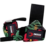DMoose Fitness Wrist Wraps for Weightlifting, Powerlifting, Strength Training, Bench press, Bodybuilding, Deadlift, and MMA,