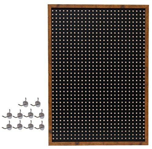 丸和貿易 有孔ボード グッデイオフ パンチングボード L ブラック 400834301