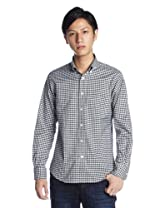 Oxford Gingham Buttondown Shirt 1211-218-4783: Black