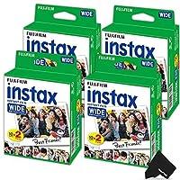 Fujifilm Instaxワイドフィルム3パック(3x 20合計60のフォトシートと互換性–Fujifilm Instax Wide 300、210、200インスタントカメラ