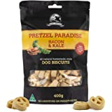 Bacon and Kale - 400g - Dog Biscuit Treats - Pretzel Paradise