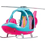 Barbie FWY29 Helicopter, Pink and Blue with Spinning Rotor