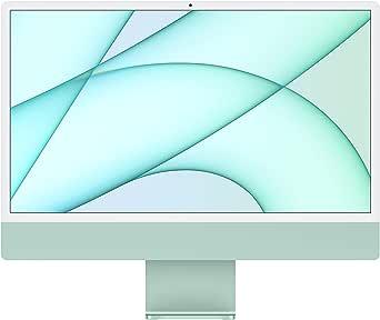 2021 Apple iMac (24インチPro, 8コアCPUと7コアGPUを搭載したApple M1チップ, 8GB RAM, 256GB) - グリーン