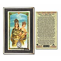 スターリングシルバーOur Lady ofプロンプトSuccor on 18インチ縁石チェーンW/Our Lady ofプロンプトSuccor–Prayer to & Against Hurricanes