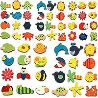 kxtffeect 24個アソートカラー木製Magnetic Fun明るいカラフルなPreschool幼児用おもちゃカラーと図形学習冷蔵庫マグネット冷蔵庫ステッカー