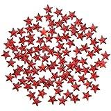 Fenteer スタービーズ スター メタル スプーンスター テーブル 紙吹雪 装飾 2タイプ選べる - 赤, 10mm 約500個