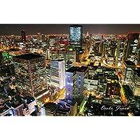 【日本の観光地ポストカードAIR】「Osaka, Japan」大阪の夜景の葉書はがきハガキ