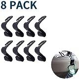 8 Pack/Pieces Car Back Seat Headrest Hook, SUV Sedan Hatchback Strong Storage Hanger, Durable PP Universal Vehicle Holder Org