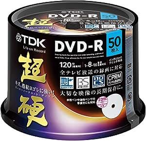 TDK 録画用DVD-R CPRM対応 16倍速対応 ホワイトワイドプリンタブル キズや指紋ヨゴレに強いスーパーハードコート・ディスク 「超硬」シリーズ 50枚スピンドル DR120HCDPWC50PA