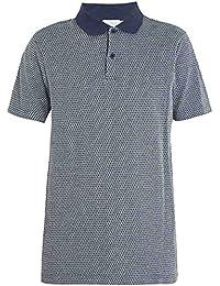 (サンスペル) Sunspel メンズ トップス ポロシャツ Geometric-jacquard cotton polo shirt [並行輸入品]