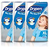 Drypers Wee Wee Dry Diapers, XL (12 - 17kg), 50ct (Pack of 3)