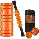 フォームローラー 5點セット 筋膜リリース ヨガポール マッサージボール マッサージローラースティック トレーニング器具…