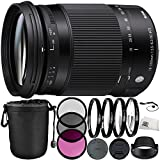 Sigma 18–300mm f / 3.5–6.3DCマクロOS HSM Contemporaryレンズfor Nikon Fバンドルwithメーカーアクセサリー&アクセサリキット(..
