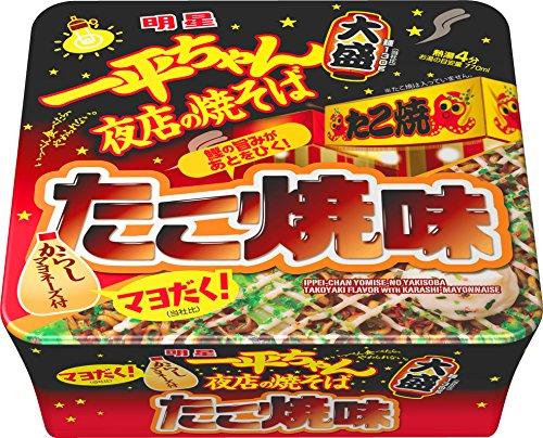 明星 一平ちゃん夜店の焼そば大盛 たこ焼味 169g×12個