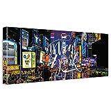 【アートデリ】ニューヨークのウォールデコ インテリア 雑貨 アート タイムズスクエア ストリート poht_w-1701-02 ワイドサイズ poht_w-1701-02