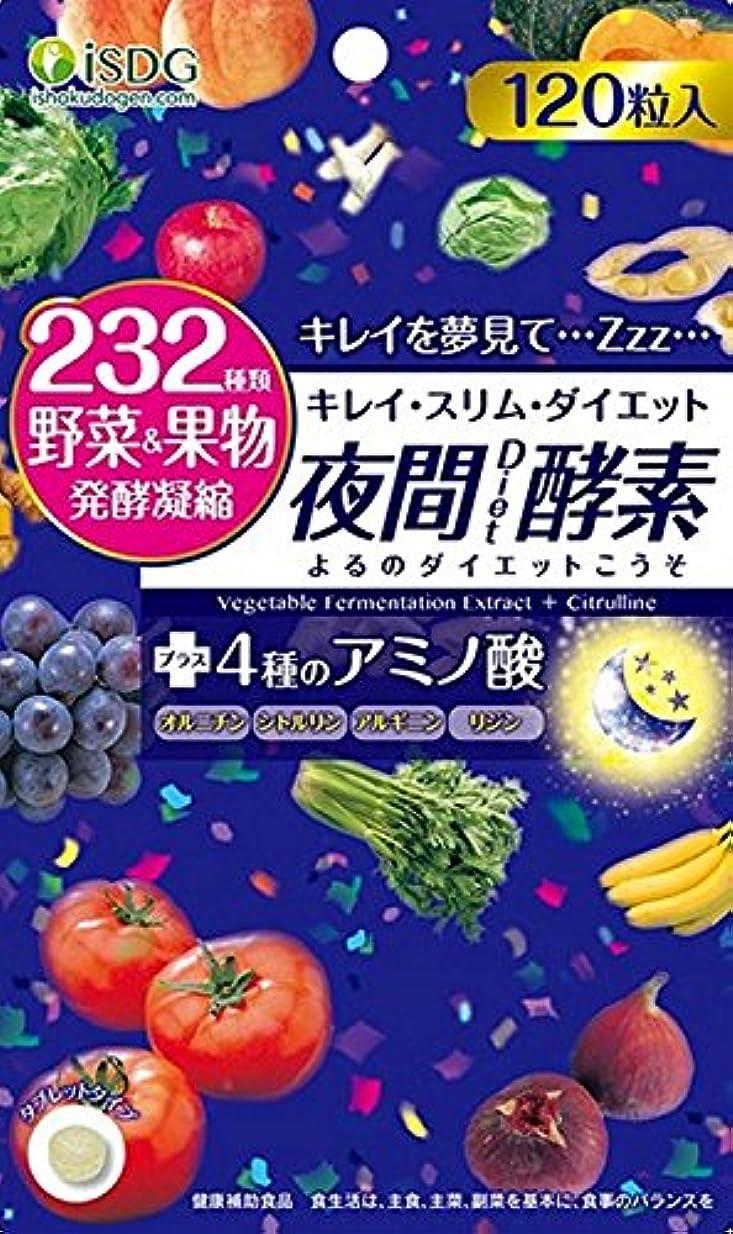 難しい微生物格差ISDG 医食同源ドットコム 夜間 Diet 酵素 サプリメント [ 232種類 野菜 果物 発酵凝縮 アミノ酸 4種 ] 310mg×120粒×10個