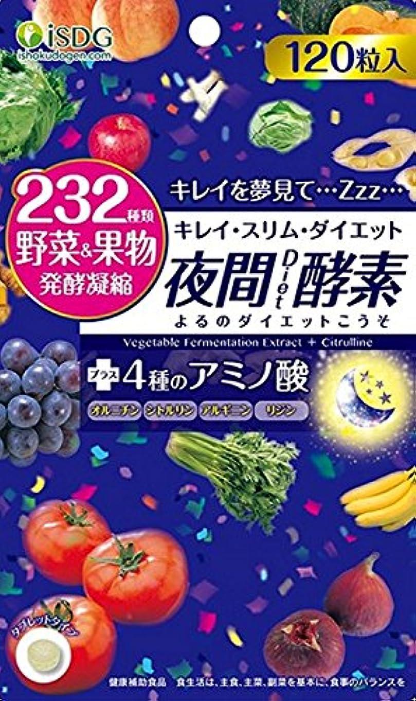 多年生意識光電ISDG 医食同源ドットコム 夜間 Diet 酵素 サプリメント [ 232種類 野菜 果物 発酵凝縮 アミノ酸 4種 ] 310mg×120粒×10個