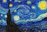 1000ピース ジグソーパズル 星月夜 マイクロピース(26×38cm)