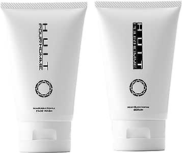 ユイット・プールオム スキンケア セット 洗顔料 & 化粧水 (オールインワン美容液) 120g