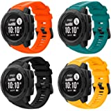 Junboer Sport Watch Band Compatible with Instinct Bands, Soft Silicone Adjustable Strap Replacement Fitness Wristband for Ins