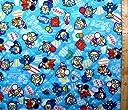 <Qキャラクター キルティング生地>M78ウルトラマン(ブルー)#17 ( 2018-2019)(キルティング キルト キャラクター キルティング生地 布 入園 入学 ピロル)