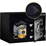JUGREAT Safe Box with Induction Light,Electronic Digital Securit Safe Steel Construction Hidden with Lock,Wall or Cabinet Anc