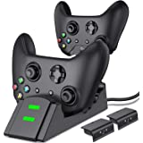 ESYWEN Xbox One Controller Charger Dual Xbox Controller Charging Station with 2X 800mAh Rechargeable Battery Packs for Xbox O