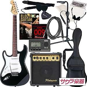 SELDER セルダー エレキギター ストラトキャスタータイプ サクラ楽器オリジナル ST-23LH/BK 初心者入門13点セット レフティ 左利き用