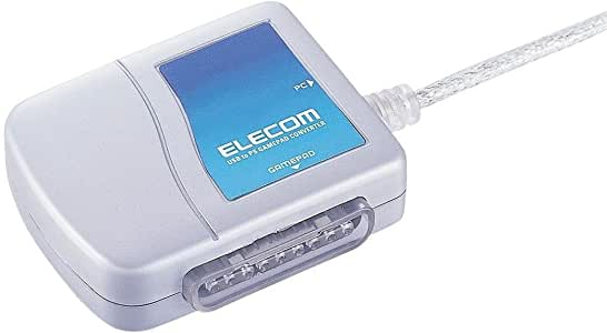 エレコム ゲームパッドコンバータ USB接続 プレステ/プレステ2コントローラ対応 1ポート JC-PS101USV