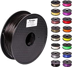 Pxmalion PLA 3Dプリンター用フィラメント素材 マテリアルPLA樹脂材料 1.75mm径 正味量1KG(2.2LB) 精確度+/- 0.03mm だいぶの3Dプリンターと3Dプリントペンが適用 (黒/ブラック)
